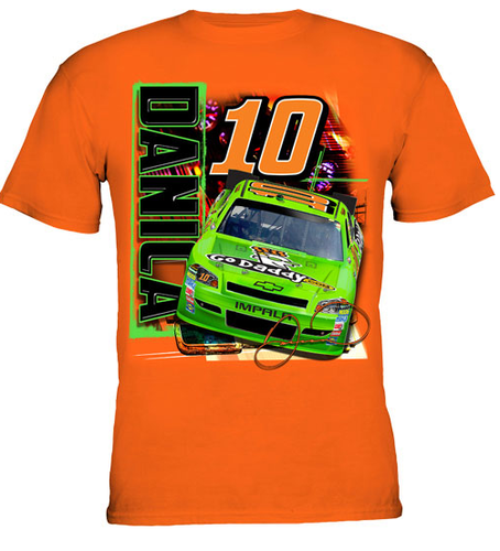 Danica #10 Car T-shirt Orange